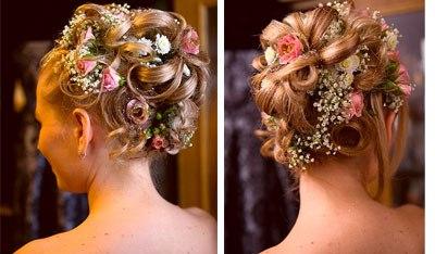 Frisuren Kurze Haare Blumen Frisur Hochzeit